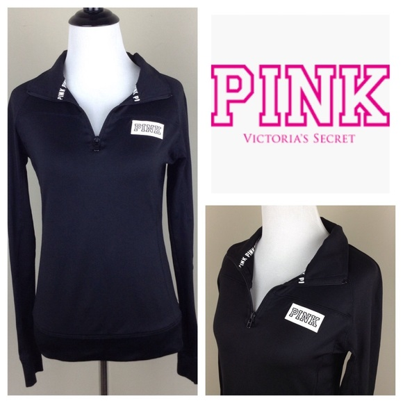 Clothing, Shoes & Accessories Confident Nwt Victoria Secret Pink Half Zip Fleece Pullover Sz Lg Intimates & Sleep